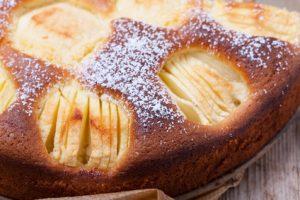 Closeup von einem Apfelkuchen
